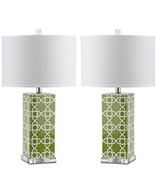 Quatrefoil Set of 2 Table Lamps