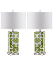 Safavieh Quatrefoil Set of 2 Table Lamps