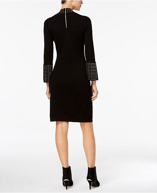 b8a39a4e Calvin Klein Studded Bell-Sleeved Sweater Dress & Reviews - Dresses ...