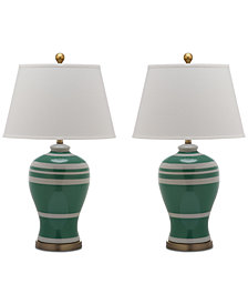 Safavieh Pottery Set of 2 Table Lamps