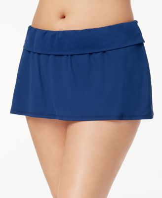 Plus Size Tummy-Control Swim Skirt