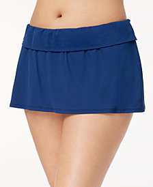 Bleu by Rod Beattie Plus Size Tummy-Control Swim Skirt