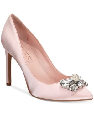 CHIARA EMBELLISHED POINTY TOE PUMP