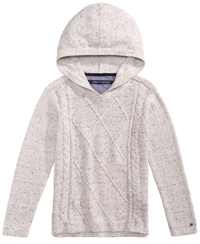 Tommy Hilfiger Cable Knit Hooded Cotton Sweater Toddle Boys 2t 5t