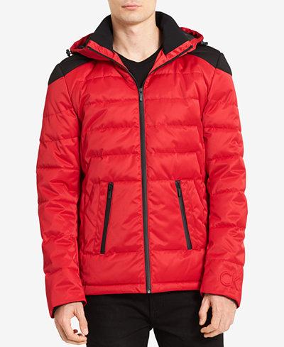Calvin Klein Men's Puffer Jacket, Created for Macy's - Coats ...
