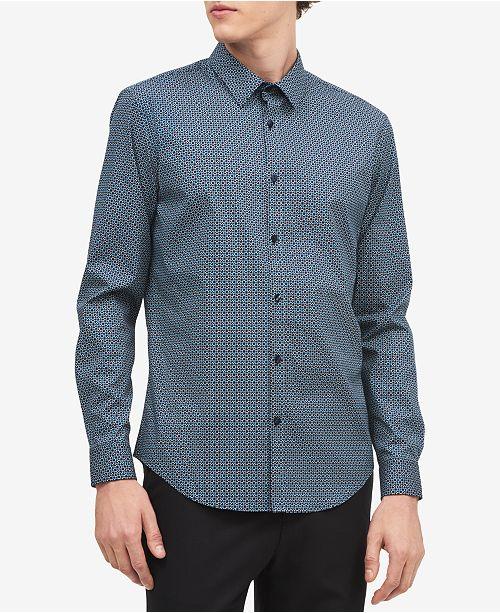 Calvin Klein Men's Geo-Print Shirt