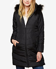 Motherhood Maternity Zip-Front Coat
