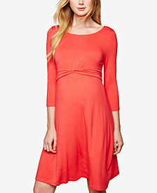 Motherhood Maternity Twist-Front A-Line Dress