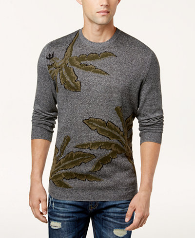 American Rag Men's Palm Print Sweater, Created for Macy's