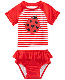 First Impressions 2-Pc. Ladybug Swimsuit, Baby Girls, Created for Macy's