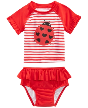 First Impressions 2Pc Ladybug Swimsuit Baby Girls (024 months) Created for Macys