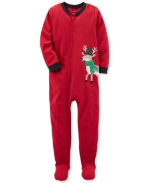 Carters 1Pc Reindeer Footed Pajamas Little Boys (47)  Big Boys (820)