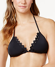 Vince Camuto Sea Scallops Triangle Bikini Top
