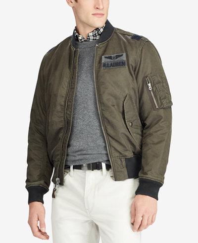 Polo Ralph Lauren Men's Twill Bomber Jacket - Coats & Jackets ...