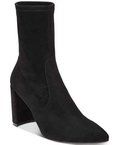 INC International Concepts Women's Savina Sock Booties, Created for Macy's