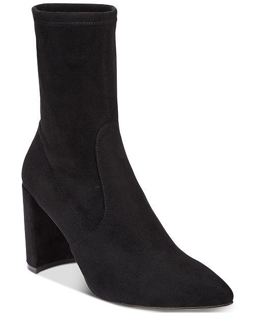 INC International Concepts I.N.C. Women's Savina Sock Booties, Created for Macy's