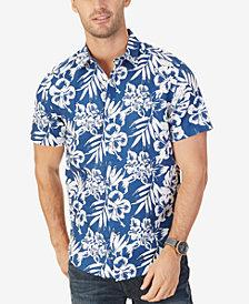 Nautica Men's Classic-Fit Linen-Blend Floral-Print Shirt
