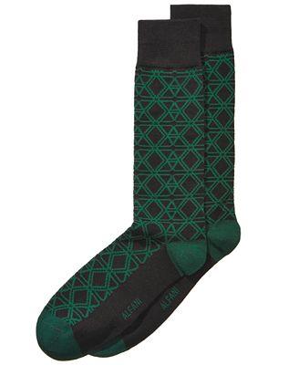 Alfani Men's Triangle Hex Socks, Created for Macy's