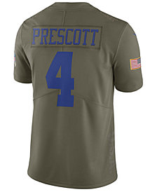 Nike Men's Dak Prescott Dallas Cowboys Salute To Service Jersey