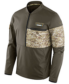Nike Men's Los Angeles Chargers Salute To Service Hybrid Half-Zip Jacket