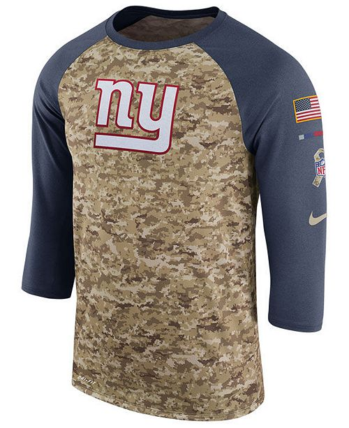 buy online 28e77 2b243 Nike Men's New York Giants Salute To Service Raglan T-Shirt ...