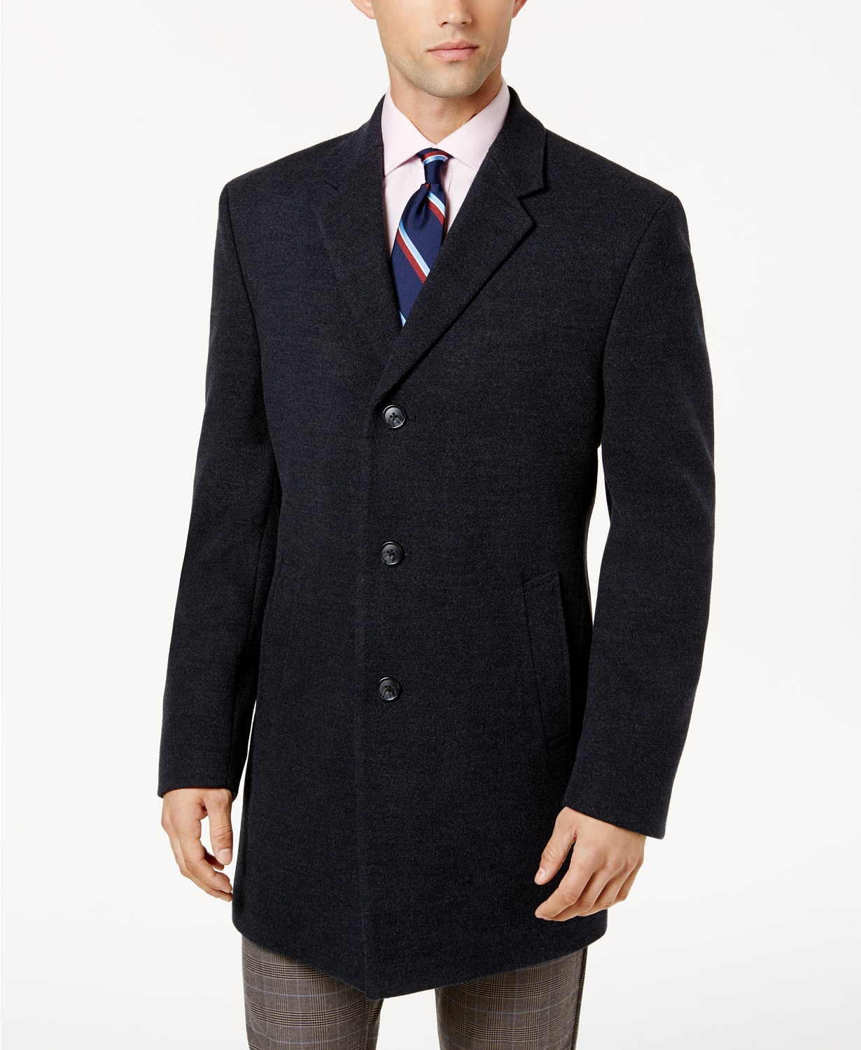 2-Pack Tommy Hilfiger Beckham Mens Modern-Fit Overcoat (navy/charcoal)