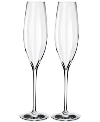 Waterford Optic Classic Champagne Flute Pair