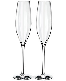 Waterford Elegance Optic Classic Champagne Flutes, Set Of 2