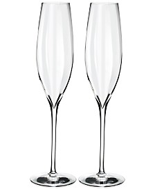 Waterford Elegance Optic Classic Champagne Flute Pair