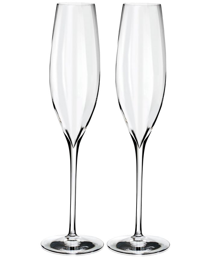 Waterford - Optic 2-Pc. Classic Champagne Flute Set