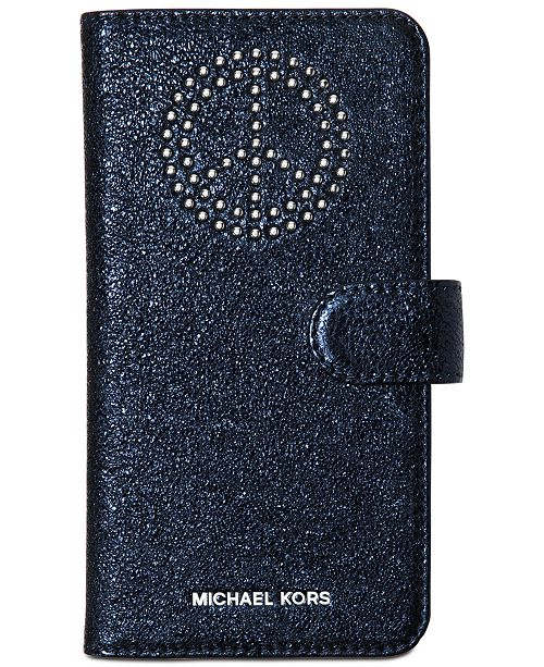buy popular 10f50 a2035 Michael Kors iPhone 7 Plus Folio Case & Reviews - Handbags ...