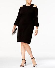 Jessica Howard Cold-Shoulder Sweater Dress
