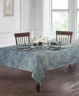 "Esmerelda Indigo 70"" Round Tablecloth"