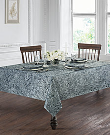 "Waterford Esmerelda Indigo 90"" Round Tablecloth"