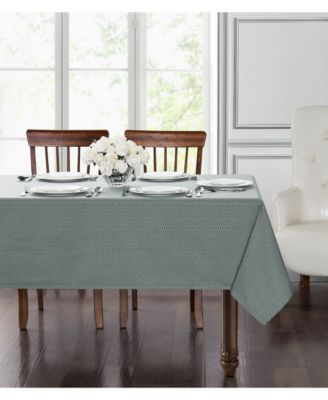 "Essentials Cordelia Steel Blue 60"" x 104"" Tablecloth"