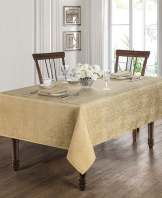 "Moonscape Gold 70"" x 104"" Tablecloth"