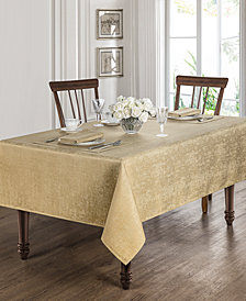 "Waterford Moonscape Gold 90"" Round Tablecloth"