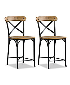 Jarren X-Back Counter Stool (Set Of 2), Quick Ship