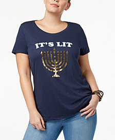 Sub_Urban Riot Trendy Plus Size It's Lit Graphic T-Shirt