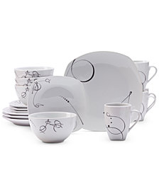 Tabletops Unlimited 16-Pc. Pescara Dinnerware Set