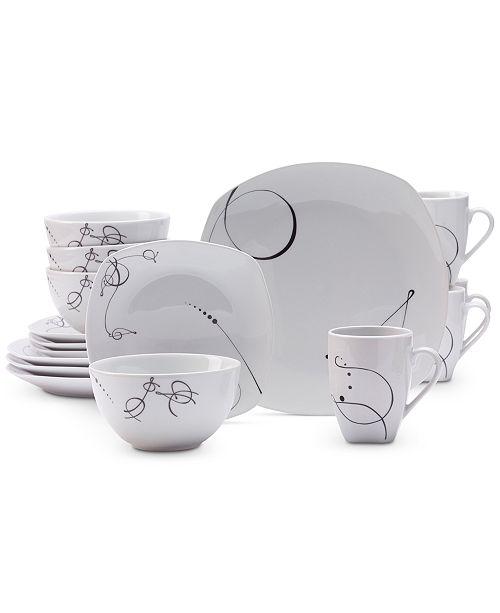 Tabletops Unlimited 16-Pc. Pescara Dinnerware Set - Dinnerware ...