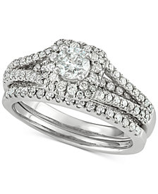 Diamond Bridal Set (1-3/8 ct. t.w.) in 14k White Gold