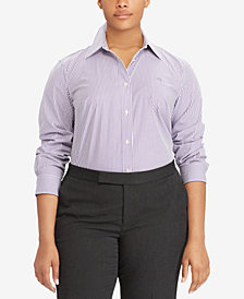 Lauren Ralph Lauren Plus Size Printed Long-Sleeve Shirt