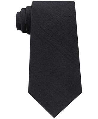 Calvin Klein Men's Basketweave Solid Silk Tie