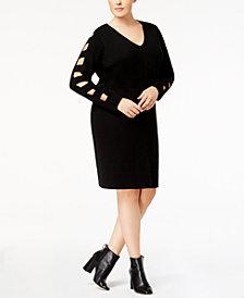 Love Scarlett Plus Size Cutout Sweater Dress