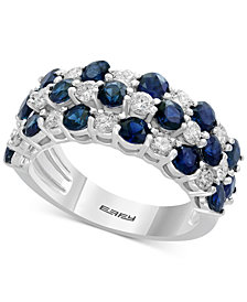 EFFY® Sapphire (2-1/2 ct. t.w.) & Diamond (3/4 ct. t.w.) Ring in 14k White Gold