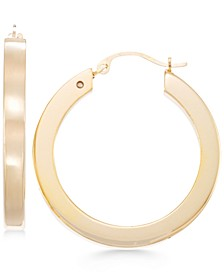 Square Tube Hoop Earrings in 14k Gold over Resin