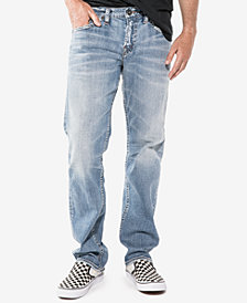 Silver Jeans Co. Men's Eddie Relaxed Fit Tapered Stretch Jeans