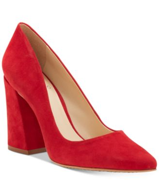 grfw vince camuto red block heel pump from macys