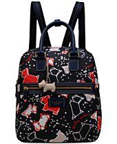 Radley London Speckle Dog Zip-Top Medium Backpack